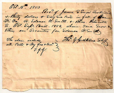 1800's STATE OF NORTH CAROLINA NC ESTATE Document #10  ~ MANY SEARCHABLE NAMES