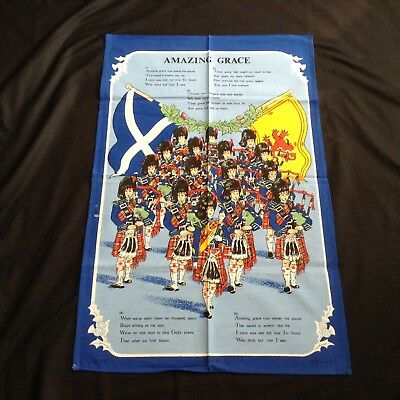 NWOT Words to Amazing Grace SOUVENIR TEA TOWEL by CAUSEWAY of SCOTLAND  28x18""