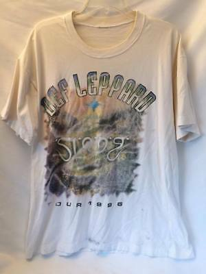 Def Leppard Vintage 1996 Slang World Tour Rock Concert T-Shirt Large *Rare* XL