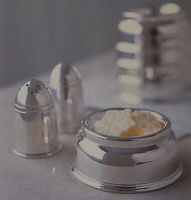 Hotel Silver for Martha Stewart By Mail Salt and Pepper Shaker Set Butter Dish