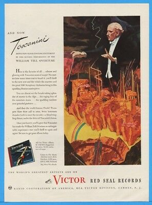1945 RCA Victor Red Seal Records William Tell Overture Toscanini Conducts Ad