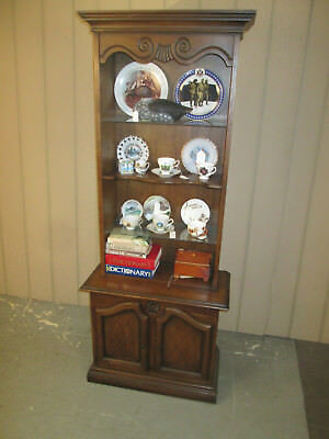 46502: Mahogany Cabinet With Bookcase Top