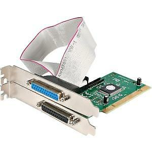 NEW! Startech 2 Port Pci Parallel Epp/Ecp Adapter Card 2 X 25-Pin Db-25 Female I
