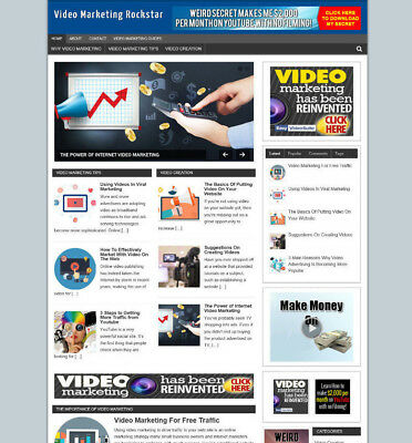 Video Marketing Advice Website & Blog With Uk Affiliate Store + Banners