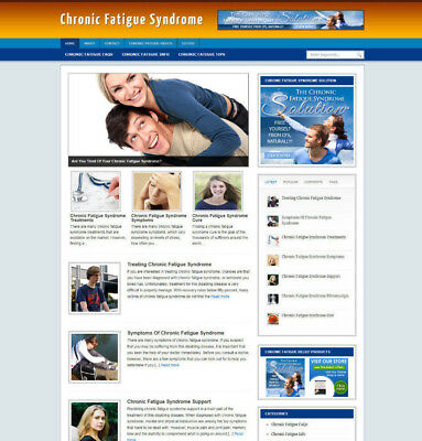 Chronic Fatigue Syndrome Blog & Website With Uk Affiliate Store + Free Hosting