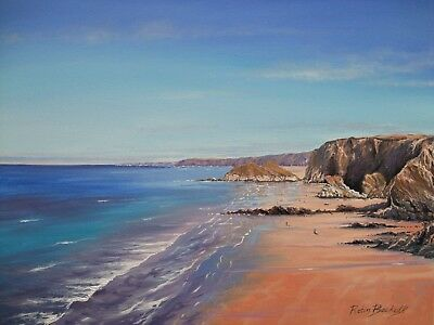 WATERGATE  -  CORNWALL  -  Original Oil Painting  by ROBIN BECKETT