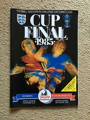 Fa Cup Final Programmes 1985 & 1986 Everton