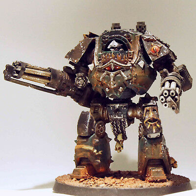 Forge World: Sons of Horus Legion Contemptor Dreadnought Cybot - sehr gut bemalt
