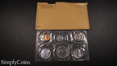 1960 Proof Set ~ Original Envelope With COA ~ US Mint Silver Coin Lot SKU-964