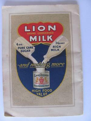 Lion Brand Condensed Milk The Milky Way Booklet Recipes Illustrated Advertising