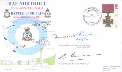AC47 Battle of Britain OC ACM ROSIER DSO RAF Northolt signed cover