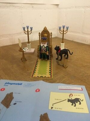"Playmobil  König Burg Ritter Set 4256 "" Thron mit König Figur ""  Tier Panther"