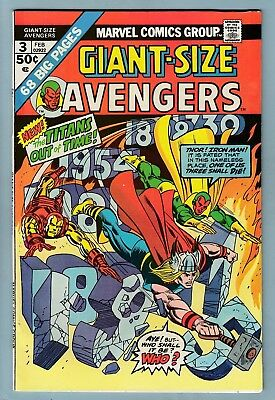 Giant-Size Avengers # 3 Vfn- (7.5)  Bright & Glossy Higher Grade Us Cents Copy