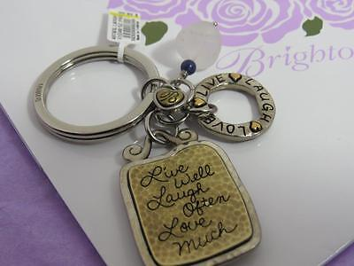 Brighton art & soul LAUGH KEY FOB   NWT $38 LIVE WELL LAUGH OFTEN LOVE MUCH