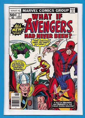 "What If #3_June 1977_Very Fine+_""the Avengers Had Never Been""_Bronze Age Marvel!"