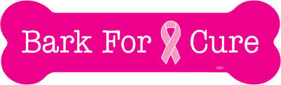 Pink Bark for the cure Breast Cancer Car Fridge Magnet  2x7 USA Made Waterproof