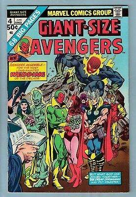 Giant-Size Avengers # 4 Vfn+ (8.5) Vision Marries Scarlet Witch_High Grade Cents