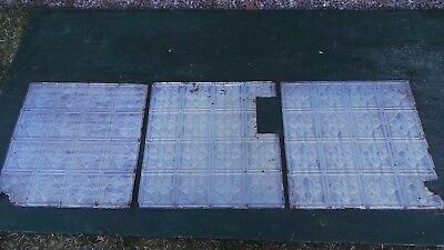 Antique 3 Tin Ceiling Tile Measures  24 1/2 x24 1/2