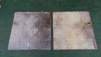 Antique 2 Tin Ceiling Tile Measures 24x24