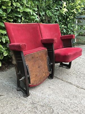 1930s art deco Vintage The Paris cinema theatre seats chairs french cast iron