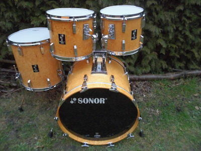 "SONOR  ""Lite""  ShellSet   22/12/13/16  Made in Germany  VINTAGE"