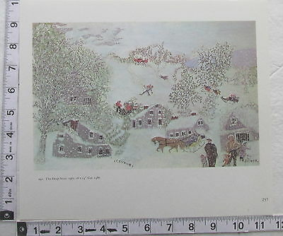 1970's Print Grandma Moses THE DEEP SNOW Anna Robertson Folk Art  (P1)