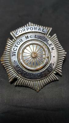 "Vintage Victor McLaglen Motor Corps ""Corporal"" Badge Hollywood Motorcycle Group"