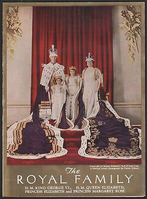 CANADIAN PACIFIC RAILROAD vintage dinner menu THE ROYAL FAMILY photograph 1939