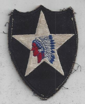 WWII 2nd INFANTRY DIVISION U.S. ARMY, ORIGINAL SHOULDER INSIGNIA PATCH