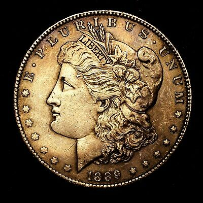 1889 P ~**ABOUT UNCIRCULATED AU**~ Silver Morgan Dollar Rare US Old Coin! #47