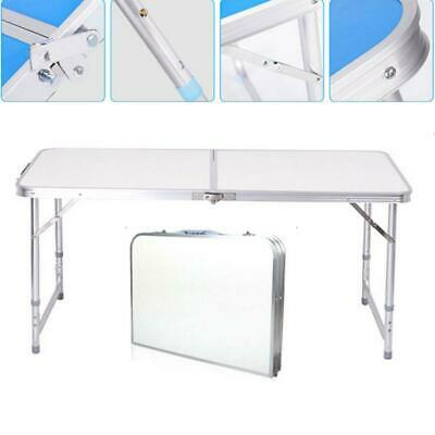 Aluminum Folding Table 4'Portable Outdoor Picnic Camping Table Party Wedding