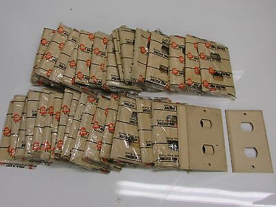 Nos! (48) Bell Interchange 1-Gang Ivory Crackle Wall Plate, Horizontal, 2-Hole