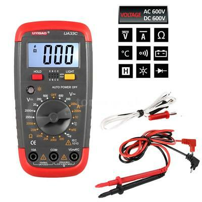 LCD Digital Hand-Multimeter Voltmeter Strom MessgeräT Temperatur Messer DE Q5Y0