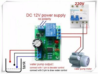 Water Liquid Level Controller Sensor Module Drainage Protect Circuit Board 9-12V