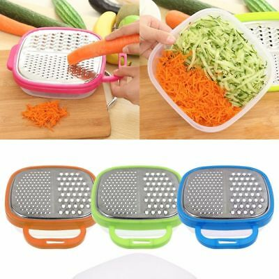 New Stainless Steel Grater Food Vegetable Cheese Slicer With Container Box