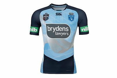 Canterbury Mens NSW State of Origin 2018 Rugby League Training T-Shirt Blue