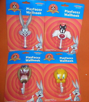 Play By Play Looney Tunes Play Faces Wall Hooks Set 4 #97-001 UPC:8425611970016