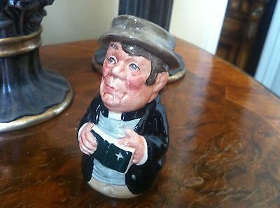 Royal Doulton Doultonville Collection REV. CASSOCK The Clergyman Mini Toby Jug