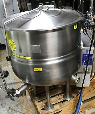 Used Cleveland KGL40 Natural Gas Jacketed Bagel Cooking Steam Kettle year 2007