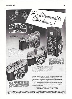 1955 Zeiss Ikon Cameras 4 Models For A Memorable Christmas Ad