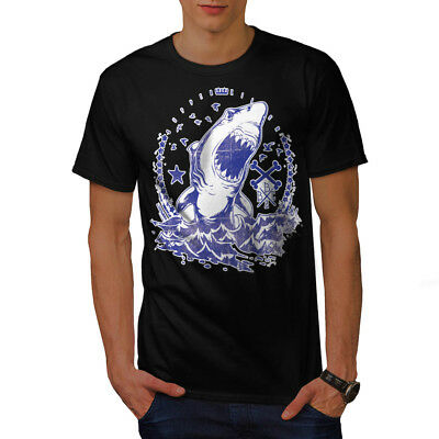 Killer Shark Art Vintage Men T-shirt S-5XL NEW | Wellcoda