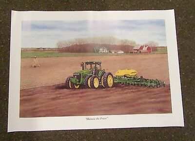 John Deere Limited Edition Print ( Harness The Power) With Coa 2005 (Nip) Signed