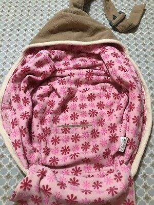 Lodger Bunker Baby Sling And Wrap Cape For Car Seat Pink Flowery