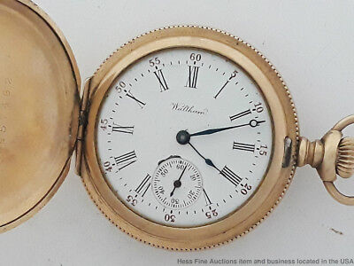 Waltham Hunters Case Gold Filled Victorian Pocket Watch to restore