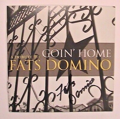 Fats Domino Signed Goin' Home-A Tribute To Fats Domino Double Cd New Very Rare