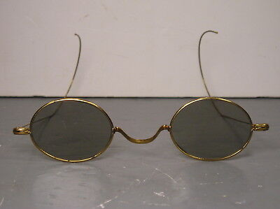 Antique Wire Rim Sunglasses Spectacles Glasses Old Tinted Oval Old Retro Vintage