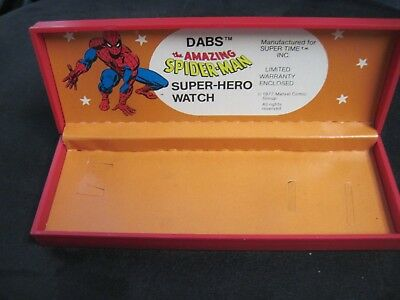 Dabs The Amazing Spiderman Super-Hero Watch Box Only 1977 Nr