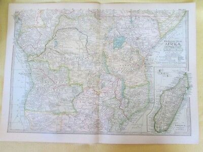 Vintage Map,AFRICA CENTRAL,112,Century Atlas,1902