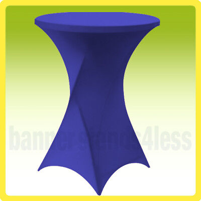 """30"""" SPANDEX Cocktail Bar Table Cover Round Tablecloth Stretch Lycra ROYAL BLUE"""