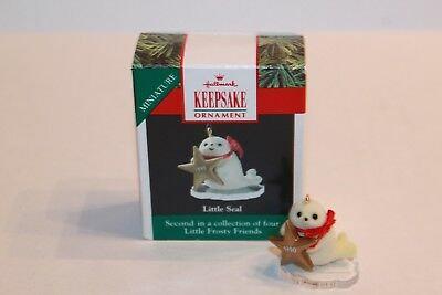 1990 Hallmark Little Seal Mini Christmas Ornament